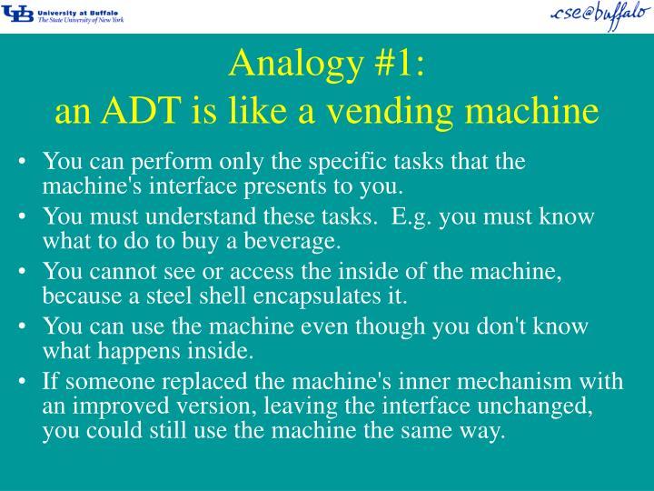 Analogy #1: