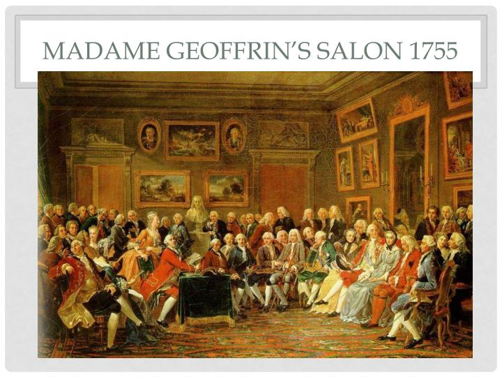 Madame Geoffrin's salon 1755