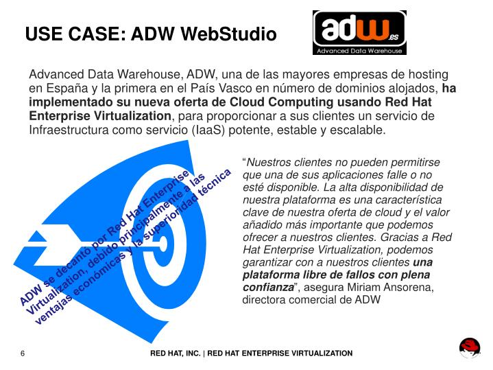 USE CASE: ADW WebStudio