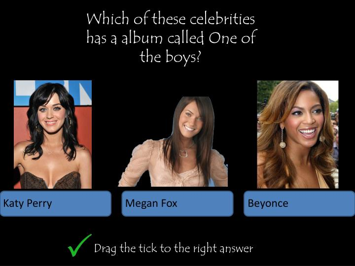 Which of these celebrities has a album called One of the boys?