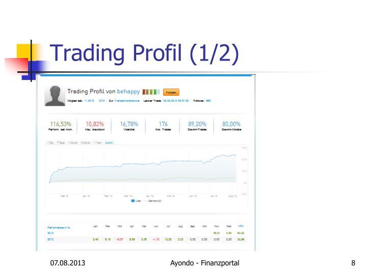 Trading Profil (1/2)