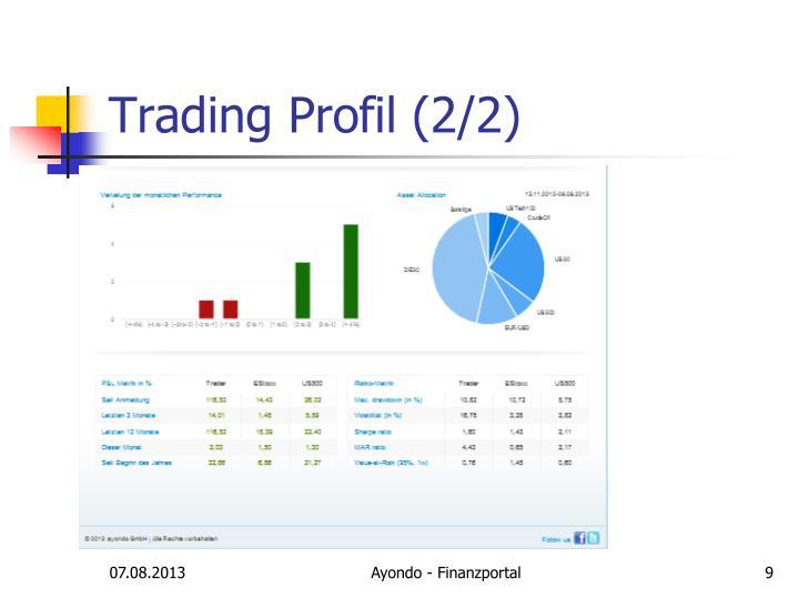 Trading Profil (2/2)