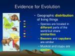 evidence for evolution1