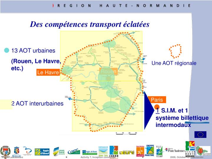 Des comptences transport clates