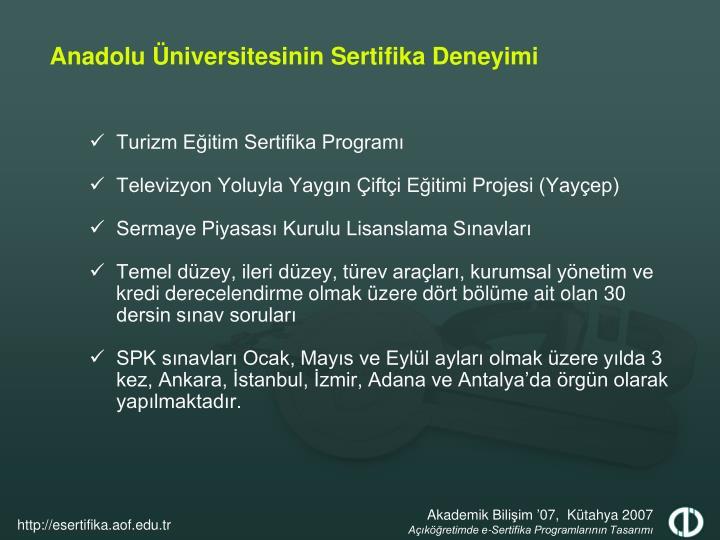Turizm Eğitim Sertifika Programı