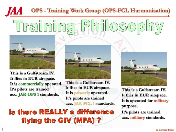 Training Philosophy