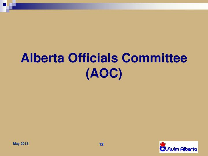Alberta Officials Committee (AOC)