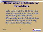 coordination of officials for swim meets2