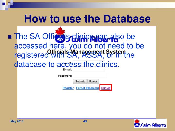 How to use the Database