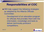 responsibilities of coc2