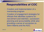 responsibilities of coc3