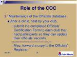 role of the c oc2