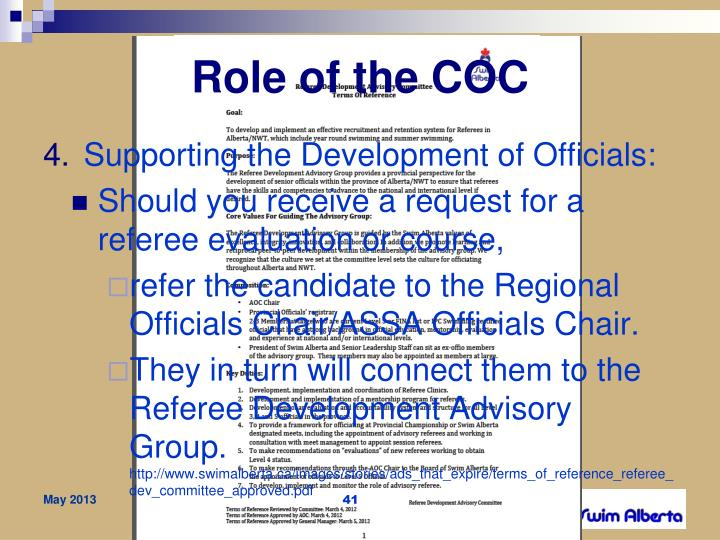 Role of the COC