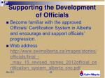 supporting the development of officials1