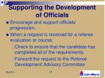 supporting the development of officials4