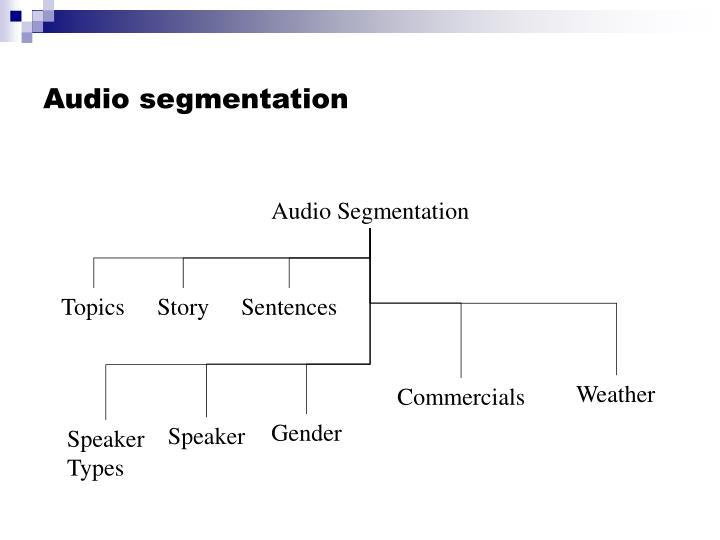 Audio segmentation