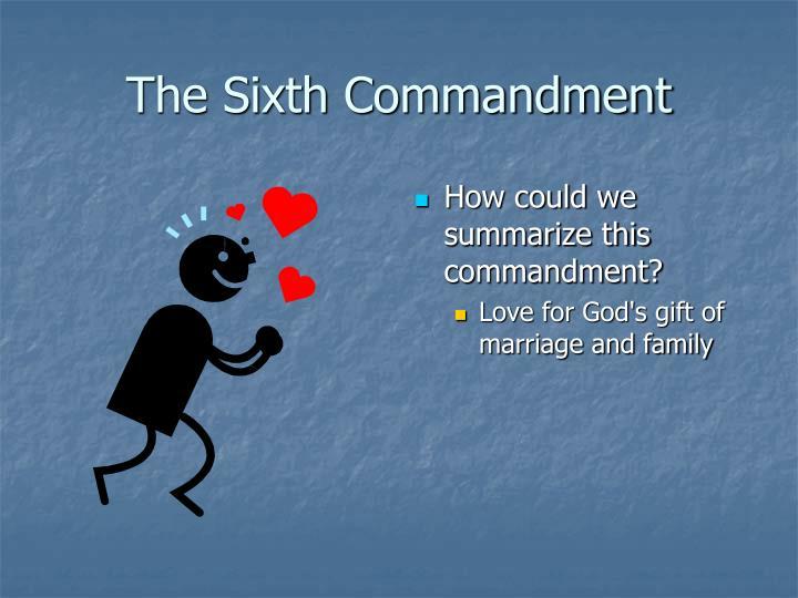 The Sixth Commandment
