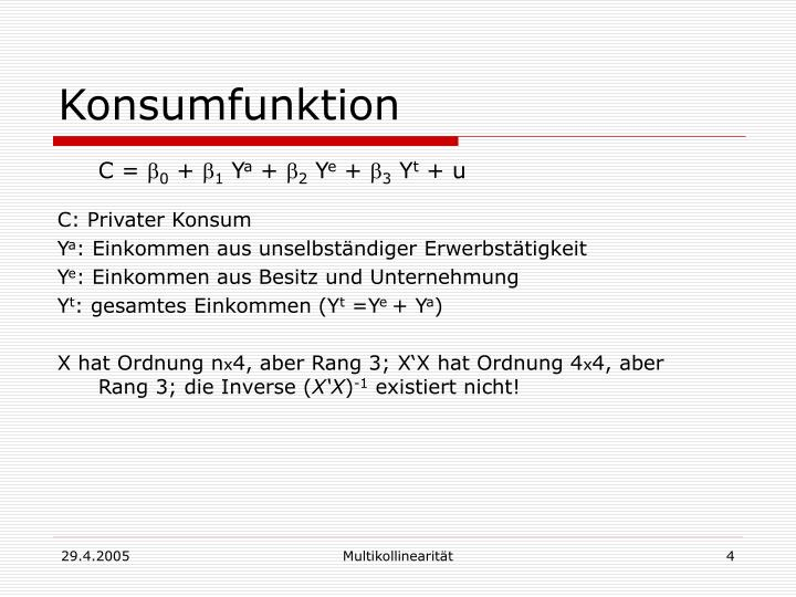 Konsumfunktion