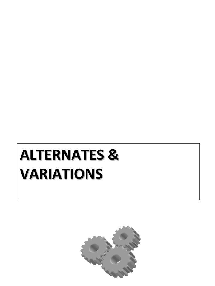 Alternates & Variations