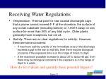 receiving water regulations
