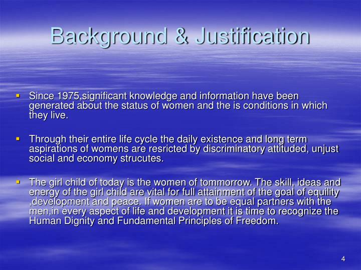 Background & Justification