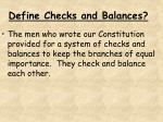 define checks and balances
