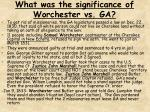 what was the significance of worchester vs ga