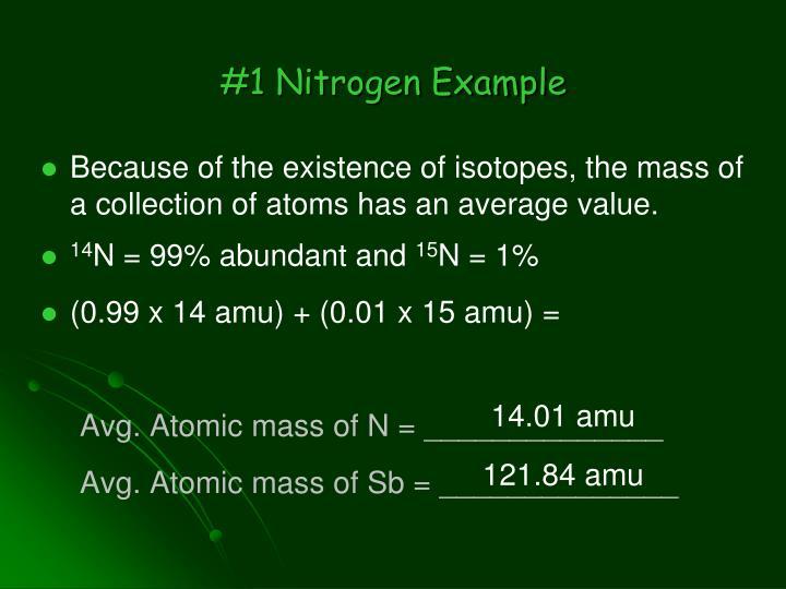 #1 Nitrogen Example