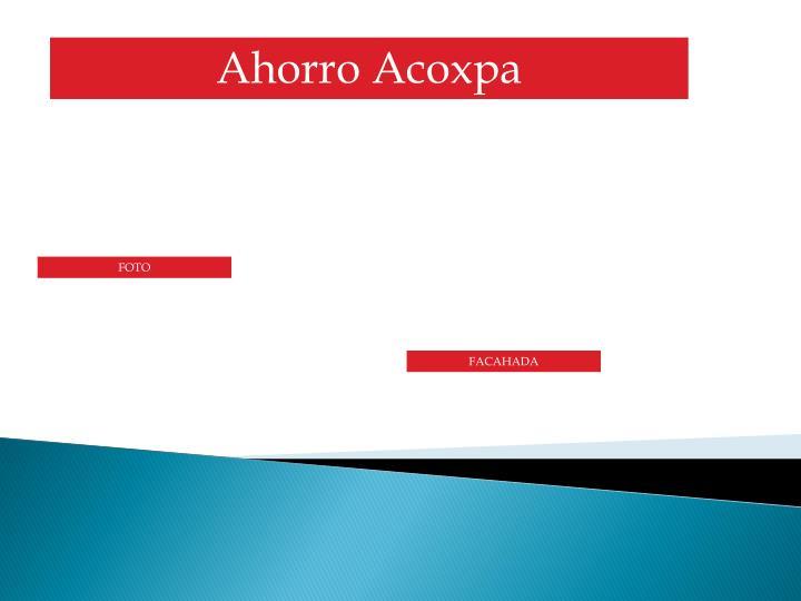 Ahorro Acoxpa