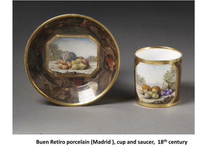 Buen Retiro porcelain (Madrid ), cup and saucer,  18