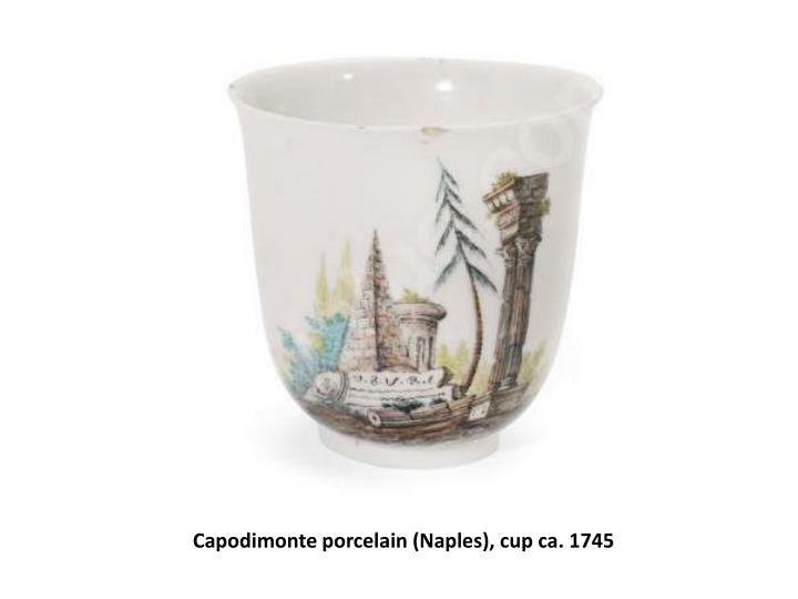 Capodimonte porcelain (Naples), cup ca. 1745