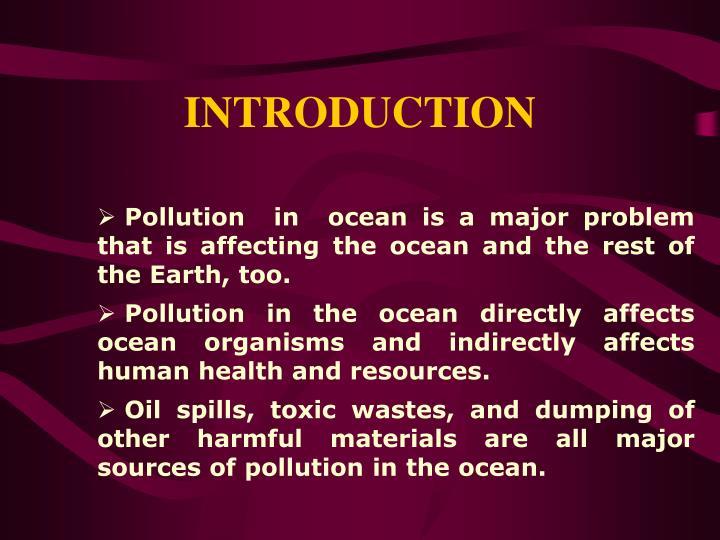 Marine Pollution PPT Free PDF Download