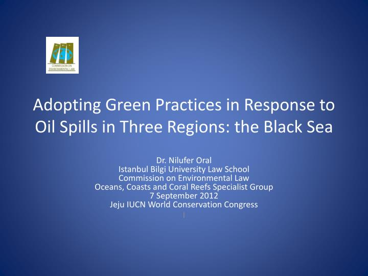 Adopting green practices in response to oil spills in three regions the black sea