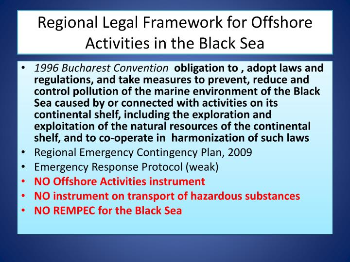 Regional Legal Framework for Offshore Activities in the Black Sea