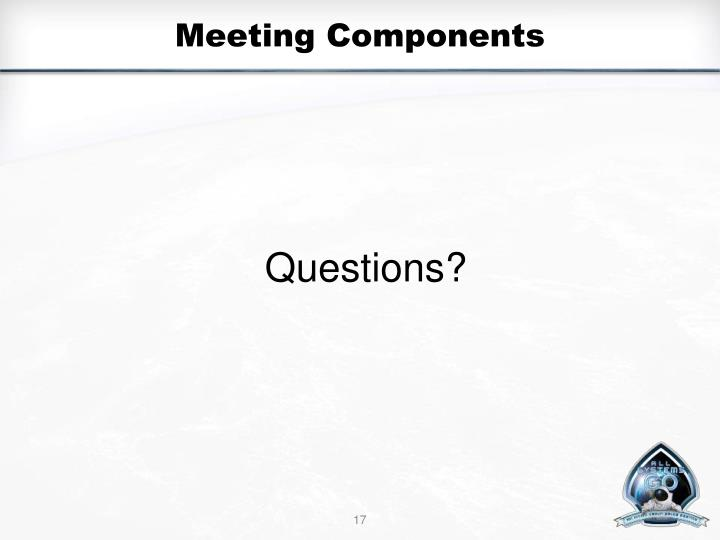 Meeting Components