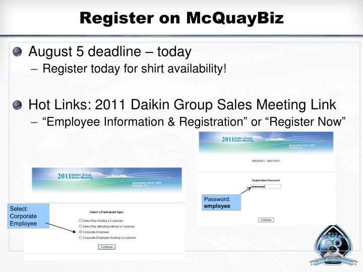 Register on