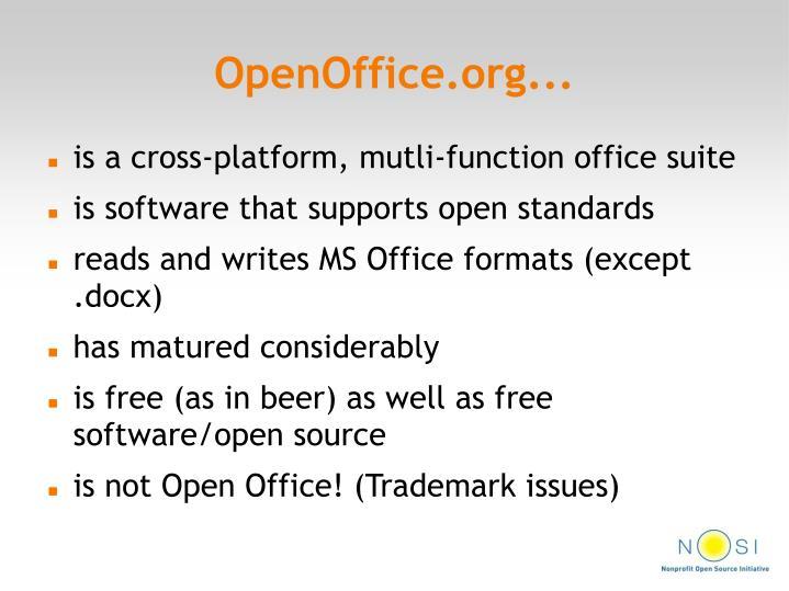 OpenOffice.org...
