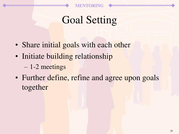 Share initial goals with each other