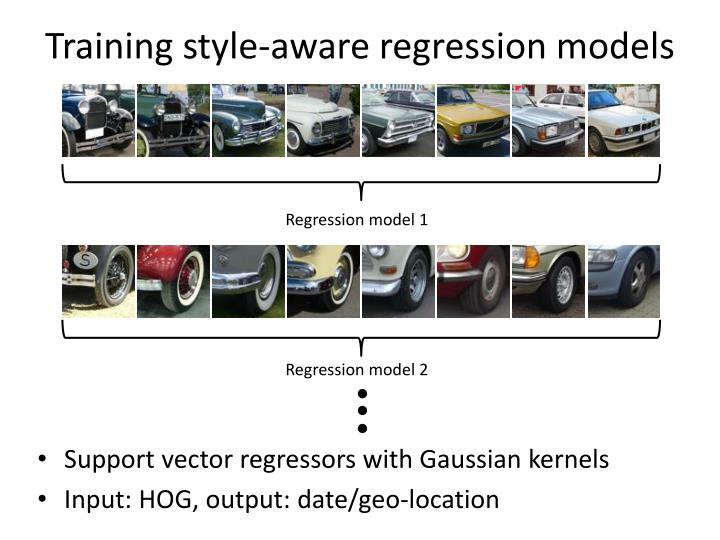 Training style-aware regression models