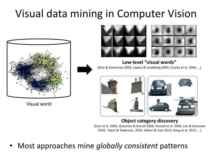 Visual data mining in Computer Vision