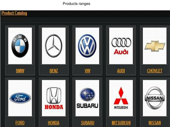 Products ranges