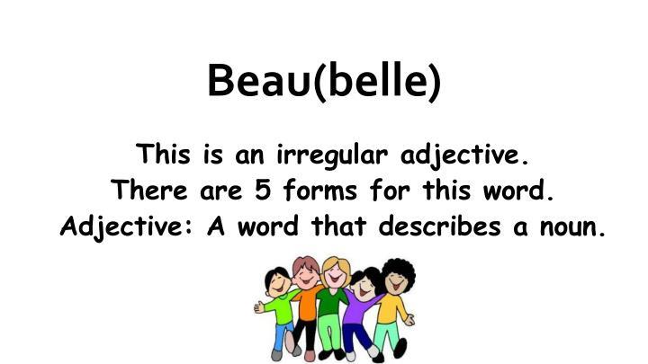 Beau(belle)