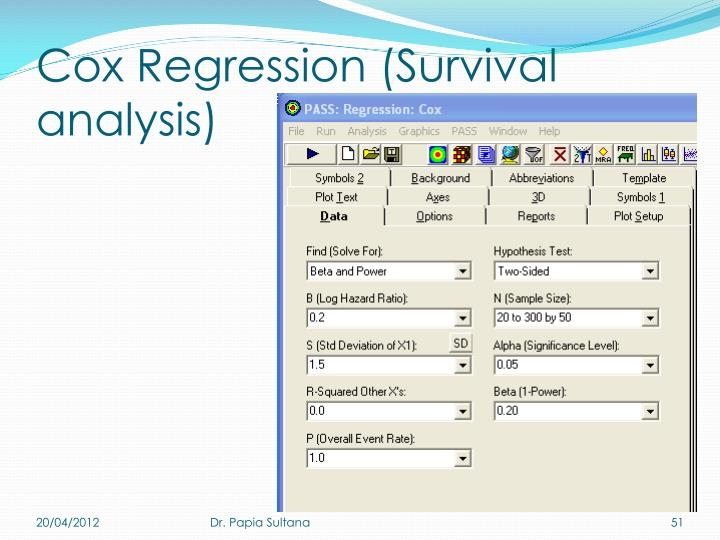 Cox Regression (Survival analysis)