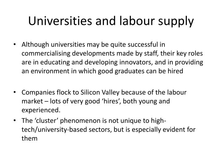 Universities and labour supply
