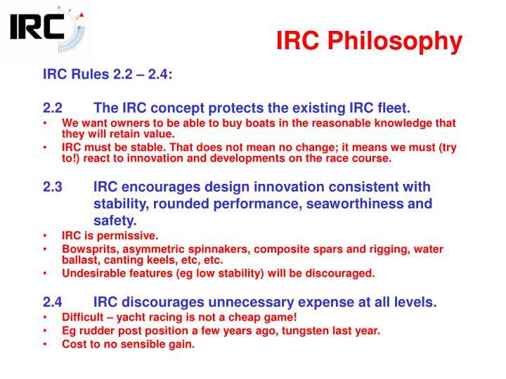 IRC Philosophy