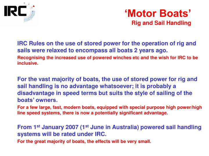 'Motor Boats'