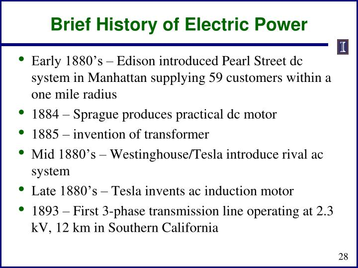 Brief History of Electric Power