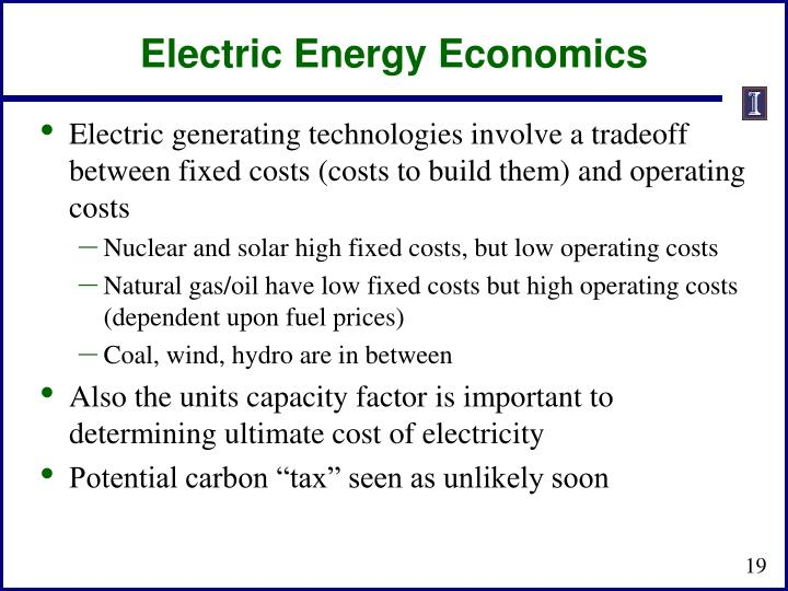 Electric Energy Economics