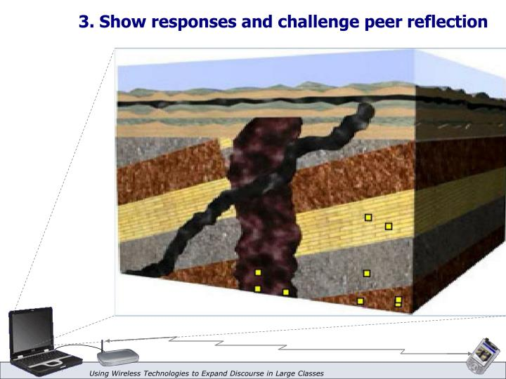 3. Show responses and challenge peer reflection