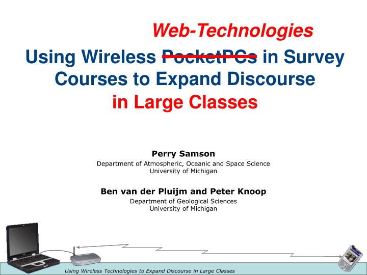 Using wireless pocketpcs in survey courses to expand discourse